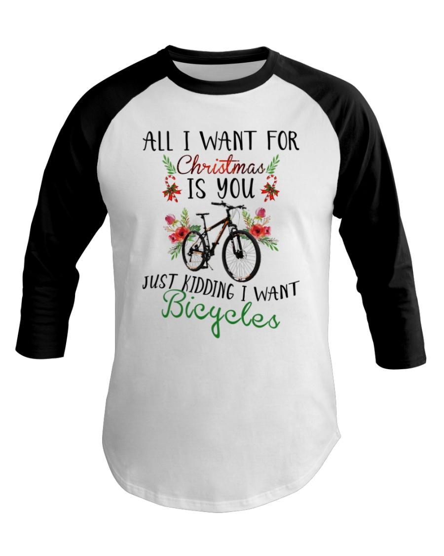 Cycle - Merry Christmas - All I Want Baseball Tee