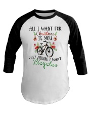 Cycle - Merry Christmas - All I Want Baseball Tee front