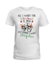 Cycle - Merry Christmas - All I Want Ladies T-Shirt thumbnail