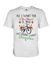 Cycle - Merry Christmas - All I Want V-Neck T-Shirt thumbnail
