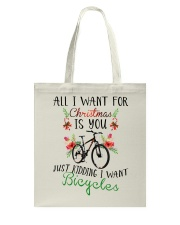Cycle - Merry Christmas - All I Want Tote Bag thumbnail
