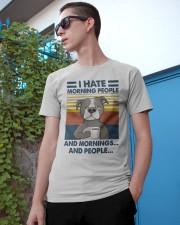 Pitbull I Hate Morning People Classic T-Shirt apparel-classic-tshirt-lifestyle-17