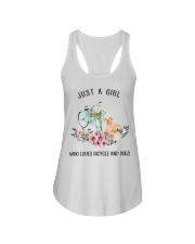Cycle - Just A Girl  Who Loves Bicycle And Dogs Ladies Flowy Tank thumbnail