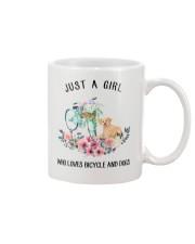 Cycle - Just A Girl  Who Loves Bicycle And Dogs Mug thumbnail