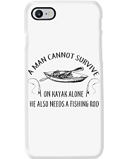 Kayaking - A Man Cannot Survive On Kayak Alone Phone Case thumbnail