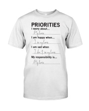 Horse - Priorities Classic T-Shirt front