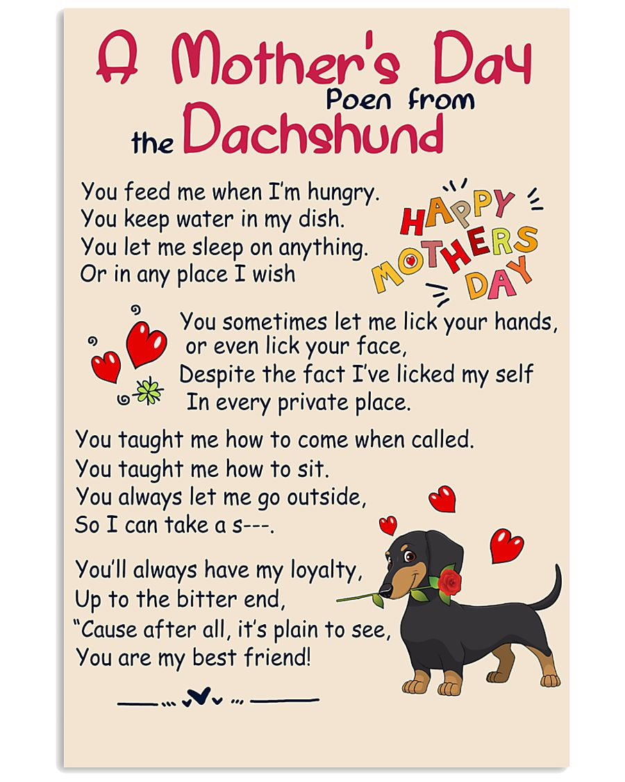 Dachshund - Happy Mother's Day 11x17 Poster