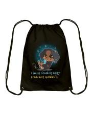 Dachshund -  I Am So Freaking Happy Drawstring Bag thumbnail