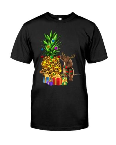 Dachshund - Merry Christmas - Pineapple