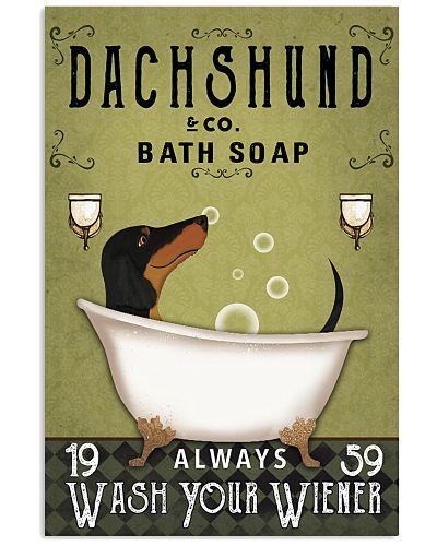 Dachshund Green Always Wash Your Wiener