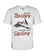 Cycle - I Don't Need Therapy V-Neck T-Shirt thumbnail