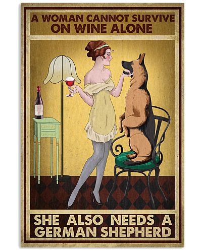 Wine She Also Needs A German Shepherd