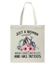 Cycle - Just A Woman Tote Bag thumbnail