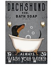 Dachshund Ash Always Wash Your Wiener 16x24 Poster front