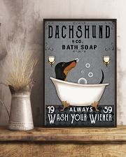 Dachshund Ash Always Wash Your Wiener 16x24 Poster lifestyle-poster-3