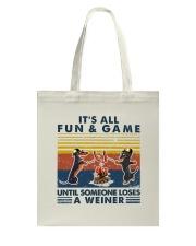 Funny Dachshund Wiener Camping Tote Bag thumbnail