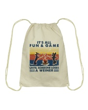 Funny Dachshund Wiener Camping Drawstring Bag thumbnail