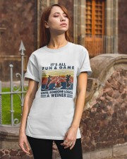 Funny Dachshund Wiener Camping Classic T-Shirt apparel-classic-tshirt-lifestyle-06