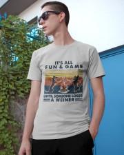 Funny Dachshund Wiener Camping Classic T-Shirt apparel-classic-tshirt-lifestyle-17
