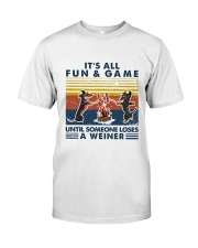 Funny Dachshund Wiener Camping Classic T-Shirt front
