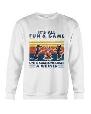 Funny Dachshund Wiener Camping Crewneck Sweatshirt thumbnail