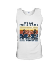 Funny Dachshund Wiener Camping Unisex Tank thumbnail