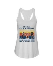 Funny Dachshund Wiener Camping Ladies Flowy Tank thumbnail