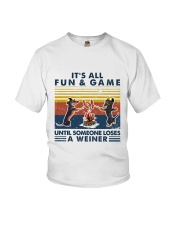 Funny Dachshund Wiener Camping Youth T-Shirt thumbnail
