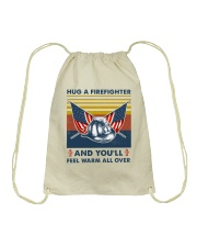 Firefighter You'll Feel Warm Over Drawstring Bag thumbnail