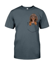 Dachshund Pocket Classic T-Shirt tile