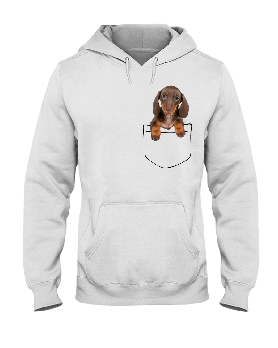Dachshund Pocket Hooded Sweatshirt