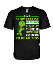 Cycle - I Am A Slow Cyclist V-Neck T-Shirt thumbnail