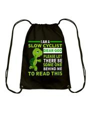 Cycle - I Am A Slow Cyclist Drawstring Bag thumbnail