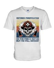 Firefighter Retired Firefighter Still Smokin V-Neck T-Shirt thumbnail