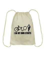 Cycle - I Do My Own Stunts Drawstring Bag tile