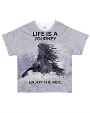 Horse Life Is A Journey All-over T-Shirt front