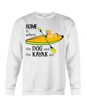 Kayaking - Home Is Where The Dog And The Kayak Are Crewneck Sweatshirt thumbnail