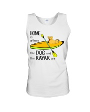 Kayaking - Home Is Where The Dog And The Kayak Are Unisex Tank thumbnail