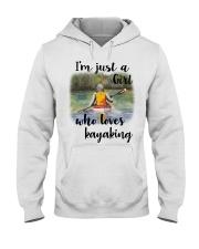 Kayaking - I'm Just A Girl Who Loves Kayaking Hooded Sweatshirt thumbnail