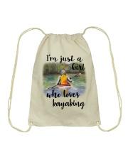 Kayaking - I'm Just A Girl Who Loves Kayaking Drawstring Bag thumbnail
