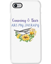 Canoeing - Canoeing And Beer Are My Therapy Phone Case thumbnail