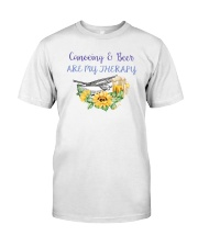 Canoeing - Canoeing And Beer Are My Therapy Classic T-Shirt thumbnail