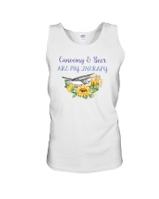 Canoeing - Canoeing And Beer Are My Therapy Unisex Tank thumbnail