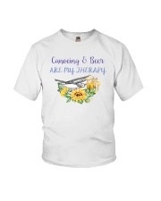 Canoeing - Canoeing And Beer Are My Therapy Youth T-Shirt tile