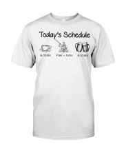 Kayaking - Today's Schedule Classic T-Shirt front