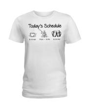 Kayaking - Today's Schedule Ladies T-Shirt thumbnail