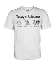 Kayaking - Today's Schedule V-Neck T-Shirt thumbnail
