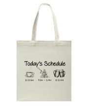 Kayaking - Today's Schedule Tote Bag thumbnail