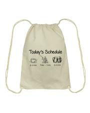 Kayaking - Today's Schedule Drawstring Bag thumbnail