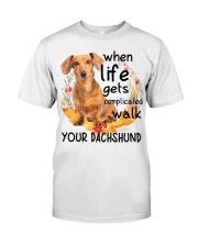 Dachshund - Walk Your Dachshund Classic T-Shirt front